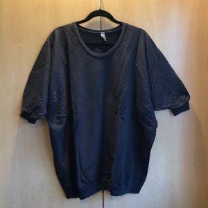 3/4 sleeve scoop neck cotton sweatshirt